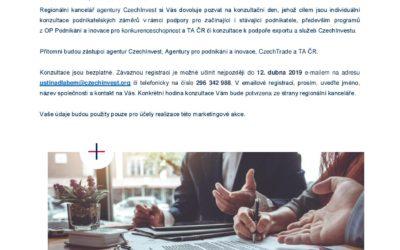 Konzultační den agentur CzechInvest, API, CzechTrade a TA ČR